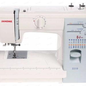 Бытовая швейная машина Janome 5519 (19 операций, петля – автомат, нитевдеватель, метал.корпус)