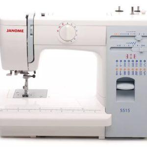 Бытовая швейная машина Janome 5515 (15 операций, петля – полуавтомат, нитевдеватель, метал.корпус)