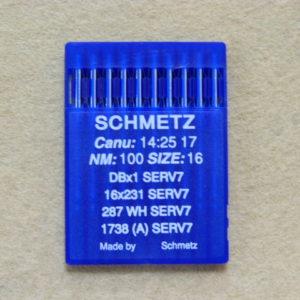 Иглы Schmetz DBх1 №100 (уп. 10 шт.)