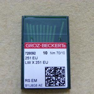 Игла Groz-beckert 251 EU №70 (уп. 10 шт.)