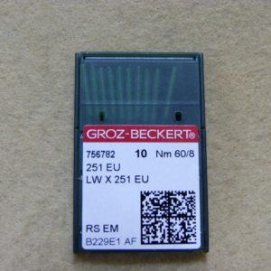 Игла Groz-beckert 251 EU №60 (уп. 10 шт.)