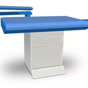 TRIO Промышленный прямоугольный гладильный стол с рукавом, подогревом и вакуумной аспирацией 82 x 122