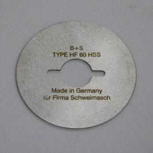 Лезвие дисковое для HF-60 односторонний