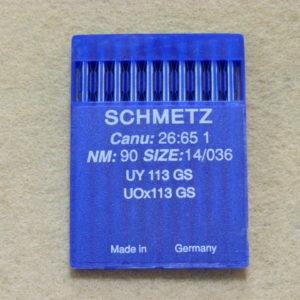 Иглы Schmetz UYx113 GS №90/14  (уп. 10 шт.)