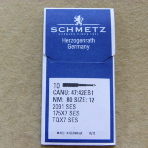 Иглы Schmetz TQх7 SES №80 (уп. 10 шт.)
