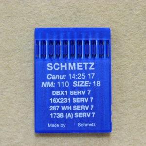 Иглы Schmetz DBх1 №110  (уп. 10 шт.)