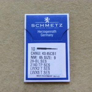 Иглы Schmetz LWx6T SES №65 (подшивочные) (уп. 10 шт.)