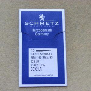 Иглы Schmetz 328 LR №160 (для рукавных машин) (уп. 10 шт.)