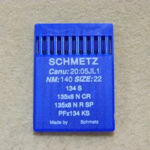 Иглы Schmetz DPх5 S (134 S) №140 для кожи (заточка прямая) (уп. 10 шт.)