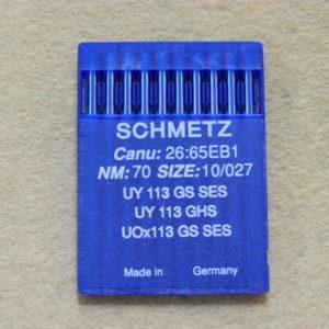 Иглы Schmetz UYx113 GS SES №70/10  (уп. 10 шт.)