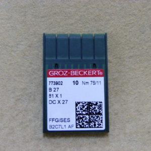 Игла Groz-beckert DCх27 SES №75(уп. 10 шт.)