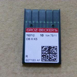 Игла Groz-beckert DBхK5 № 75 (уп. 10 шт.)