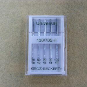 Игла Groz-beckert 130/705H №70 (1шт) №80 (1шт) №90 (2шт) №100 (1шт)/5шт/уп
