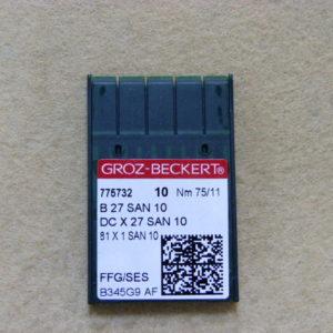 Игла Groz-beckert DCx27 SAN 10 FFG/SES №75(уп. 10 шт.)
