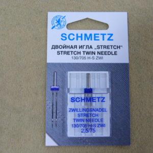 Игла Schmetz 130/705H-S ZWI NE 2,5 №75 (1шт/уп)