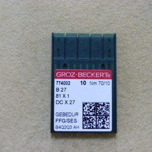 Игла Groz-beckert DCx27 GEBEDUR SES №70 (уп. 10 шт.)