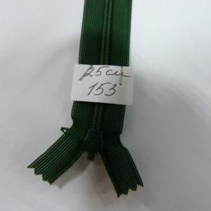 Молния потайная №3 25см Е-153 зеленый