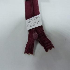 Молния потайная №3 25см Е-021 темный бордо