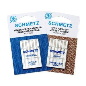 Игла Schmetz 130/705H №70 (2шт) №80 (2шт) №90 (1шт) SUK/5шт/уп