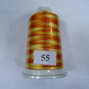 Нитки вискоза FUFU'S мультиколор (5000м) 55