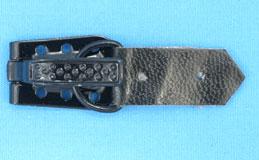 Крючки шубные* (кр.23х15мм, хл.25х11мм, к.11х7,5х2мм) (уп.100шт) черный