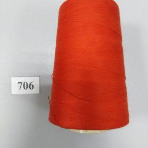 0706 Нитки 70 ЛЛ морковный «Санкт-Петербург» 2500м