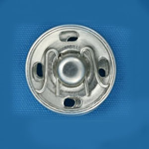 Кнопка потайная 15мм (уп. 20шт.) никель