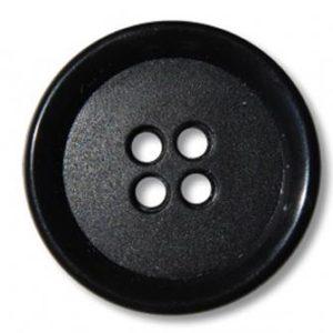 Пуговица 4-П д.17мм черная (1000 шт/уп)