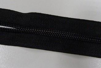 Рулонная молния спираль №3 10.25гр/м 200м/рул (580 черный)