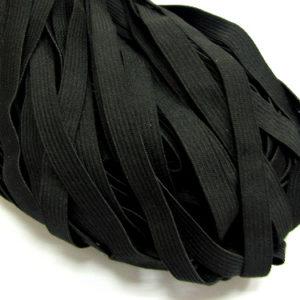 Резинка-продежка  6мм (1уп.-100м) черная
