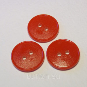 Пуговица 2-П д.17мм оранжевая (1000 шт/уп)