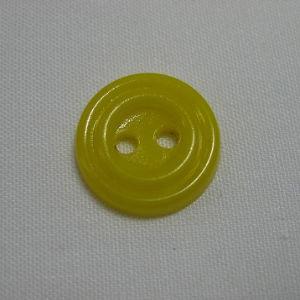 Пуговица 2-П д.17мм желтая (1000 шт/уп)