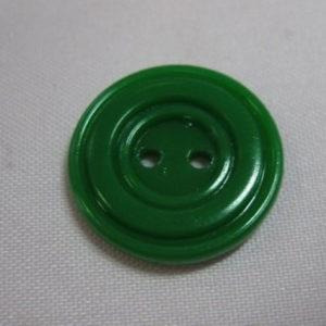 Пуговица 2-П д.17мм зеленый (1000 шт/уп)