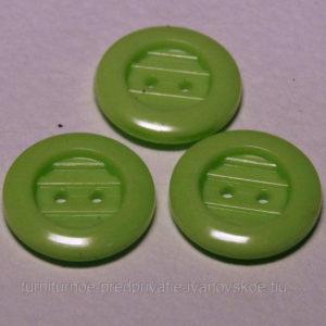 Пуговица 2-П д.17мм светло-зеленый (1000 шт/уп)