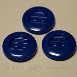 Пуговица 2-П д.17мм синий (1000 шт/уп)