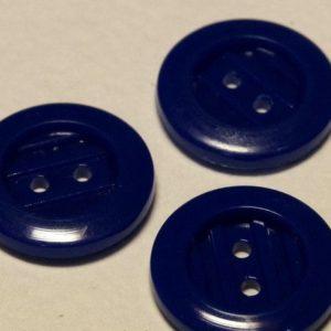 Пуговица 2-П д.17мм синий тонированный (металлик (1000 шт/уп)