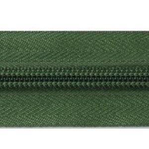 Рулонная молния спираль №5 17.50гр/м 200м/рул зеленый