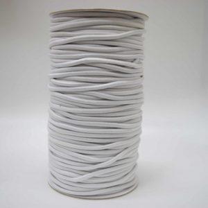 Резинка шляпная * диам. 2 мм (уп.100м)  001 ДС белая