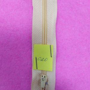 Молния юбочная 20 см №020 ДС светло-желтый