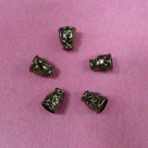 Концевик №405 колокольчик (500 шт/упак) под металл черный никель