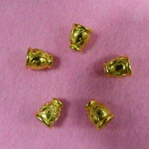 Концевик №405 колокольчик (500 шт/упак) под металл золото