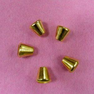 Концевик №50 колокольчик (500 шт/упак) под металл золото, большой