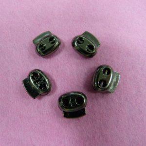 Фиксаторы №33 двухдырочный под металл черный никель (500 шт/упак)