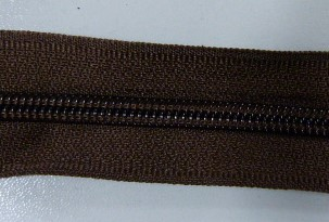 Рулонная молния спираль №5 17.50гр/м 200м/рул (303 коричневый)