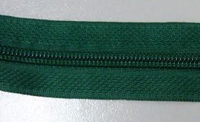 Рулонная молния спираль №5 14.50гр/м 200м/рул (295 зеленый)