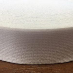 Резинка тканая 0030 белая (1рул-20м)