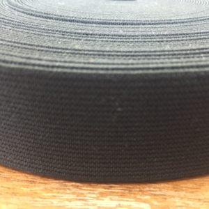 Резинка тканая 0030 черная (1рул-20м)