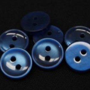 Пуговица 2-П д.12мм синяя (1000 шт/уп) 18L