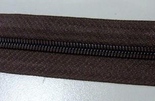 Рулонная молния спираль №5 17.50гр/м 200м/рул (304 коричневый)