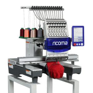 Ricoma TC-8S одноголовая12/15-игольная вышивальная машина с 8″ HD сенсорным дисплеем